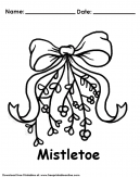 Mistletoe Christmas Coloring Page - Fun Activities For Kids This Christmas