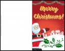 Merry Christmas With Santa Claus and Snow Filled Village on the Christmas Greeting Card - Customize Xmas Card