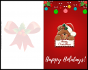 Happy Holidays With a Santa Bear and Merry Christmas on it. Customize free