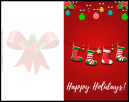 Happy Holidays Christmas Card with Stockings