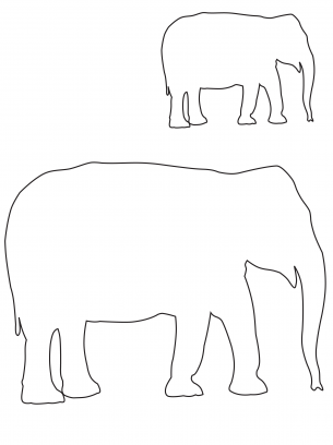 Elephant cutout templates shapes