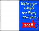 Customized New Years Day Cards -  Wishing You a Bright and Happy New Year!