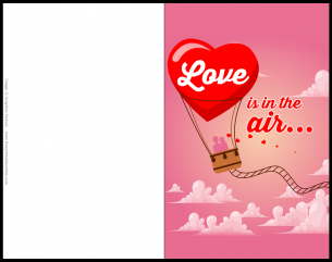 Love Is In The Air Valentines Day Card