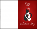 Cat Couple Valentines Day Card - May your Valentines Day filled with so much love and happiness