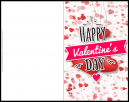 Make Your Own Free - Valentines Day Card   -  Happy Valentines Day it says with the rest of the card full of hearts