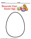 Decorate you easter egg. Picture of a blank egg ready to decorate.