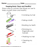 Worksheet on Personal Hygiene Tools - Keep body clean and healthy.
