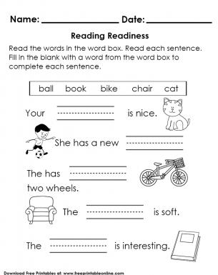 Reading readiness