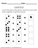 Basic Addition using Dots Kids Activity - Preschool Worksheet
