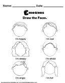 Subjecting Emotions Kids Activity Worksheet