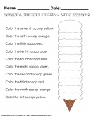Ordinal Number Names Kids Activity Worksheet
