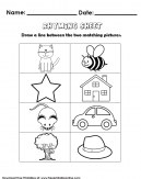 Rhyming Words Kids Activity Worksheet