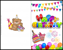 Happy Birthday Card for youg Child | Plain Free Card