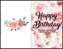 Beautiful Happy Birtday Card. Wishing you a day filled with happiness and a year filled with joy.