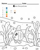 Under the sea paint by numbers coloring sheet