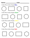 Recognise the Circle - Shape recognition with Colors - Blue, Green, Yellow, Red