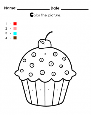 Whimsical Cupcake Coloring Pages 4 By Michael - Cup Cakes To ...   385x305