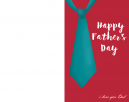Simple blank father's day card