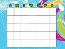 Blank Blue Monthly Calendars