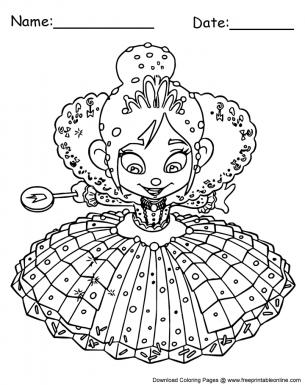 Princes Vanellope Von Schweetz Coloring Pages