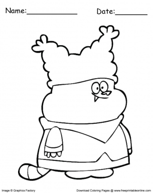 Coloring in Chowder - Blank Coloring in Worksheet