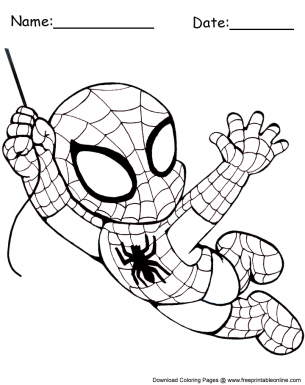 Print Young Spider Man coloring pages | Spider coloring page ... | 385x305
