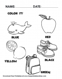 Let's Color it - Correctly Read the Color Written on The Coloring page and color it!