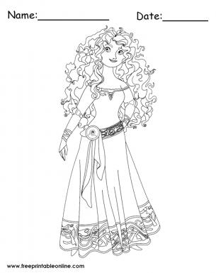 Princess Merida Coloring Page