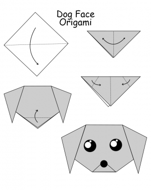 Dog Face Origami For Kids this Summer