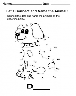 Connect the dots dog