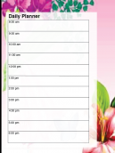 Pink Flower Daily Planner
