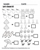 Count The Objects In The Worksheet - Let's count it togetehr.