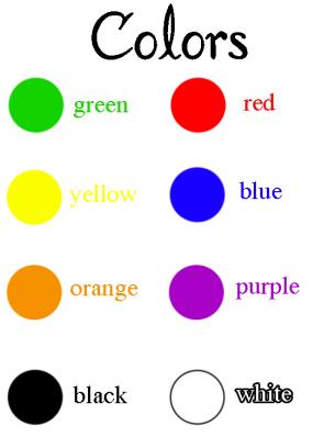 Color Names Worksheet