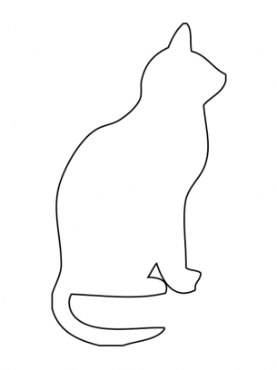 image regarding Cat Stencil Printable titled Cat Routines Template