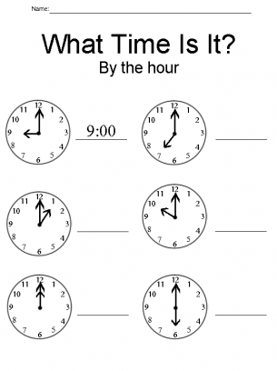 what time is is worksheet