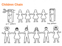 Children Chain Origami Crafts