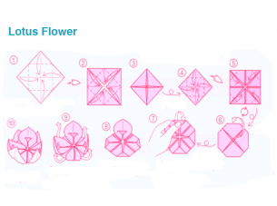 Origami Lotus Instructions | 227x305