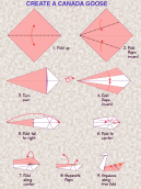 Origami Canada Goose