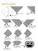 Origami Jack-O' Lantern