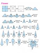 Origami Blue Flower