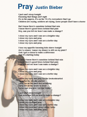 Justin Bieber Pray lyrics