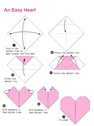 Origami Heart. Easy For Kids this Summer