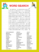 Hockey Word Search Puzzle