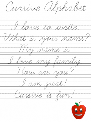Printables Cursive Writing Worksheets Free Printable cursive writing word practice sheets sentence worksheets kindergarten handwriting sentences for free printable