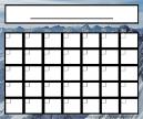 Mountains Blank Monthly Calendar
