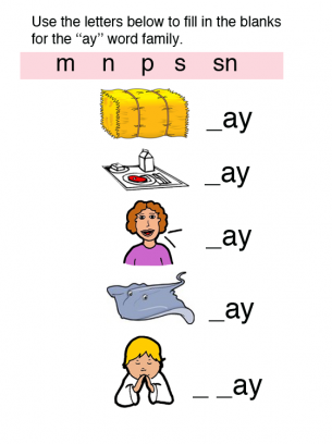 Printables Word Family Ay free printable am word family worksheets templates and cvc phonics for kindergarten f