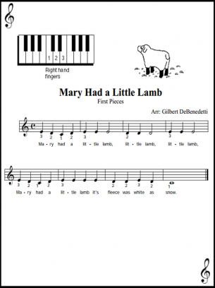 Free Printable Piano Music for Beginner Levels