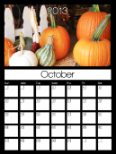 October 2013 Monthly Calendars
