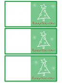 Tree Design Christmas Card