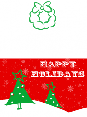 photo regarding Happy Holidays Printable Card titled Delighted Holiday seasons Card